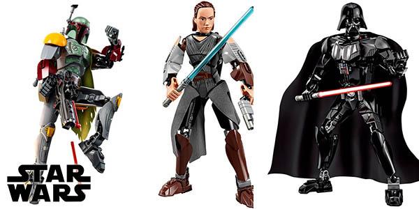 Figuras de personajes de Star Wars tipo LEGO