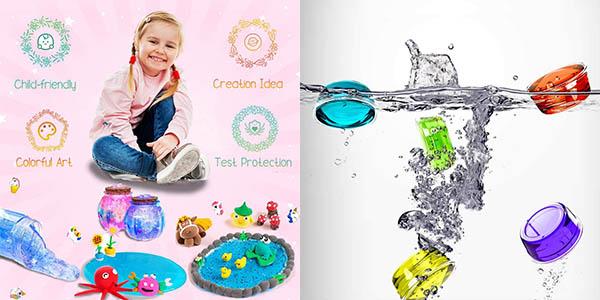 Fluffy caja de slime con colores brillantina oferta
