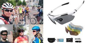 Gafas de Sol Polarizadas Rockbros con 5 Lentes Intercambiables baratas en Amazon
