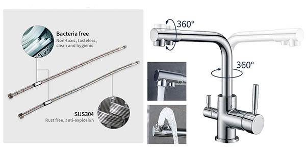 grifo de cocina giratorio Homelody por ósmosis de relación calidad-precio alta