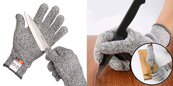 Juego de guantes anticorte Yizhet barato