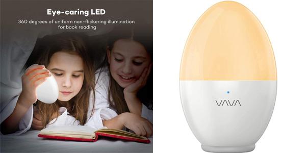 Luz Nocturna Infantil LED VAVA de carga USB y brillo ajustable barata en Amazon