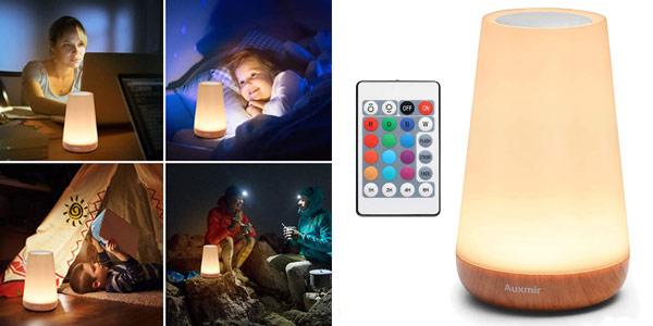 Luz Nocturna LED Auxmir de 13 colores con mando remoto barata en Amazon