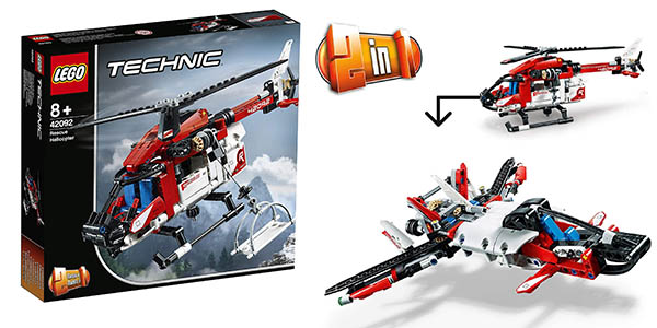 Lego Technic helicóptero de rescate oferta