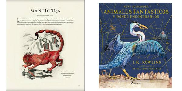 Libro ilustrado Animales Fantásticos y dónde encontrarlos en tapa dura barato en Amazon