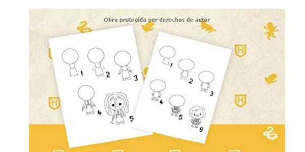 Libro Cómo dibujar Harry Potter Para Niños: Dibujos paso a paso en tapa blanda chollo en Amazon