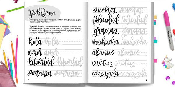 """Libro """"La guía para principiantes de caligrafía moderna y lettering a mano para niños"""" barato"""