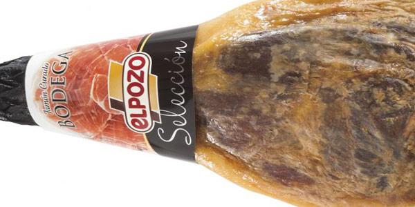 Lote jamón curado en bodega selección El Pozo 7 kg + Vino + Cuchillo + Chaira oferta en Carrefour