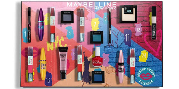 Maybelline New York calendario de adviento con productos de maquillaje chollo