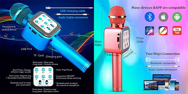 Micrófono Karaoke 4 en 1 Shinepick barato