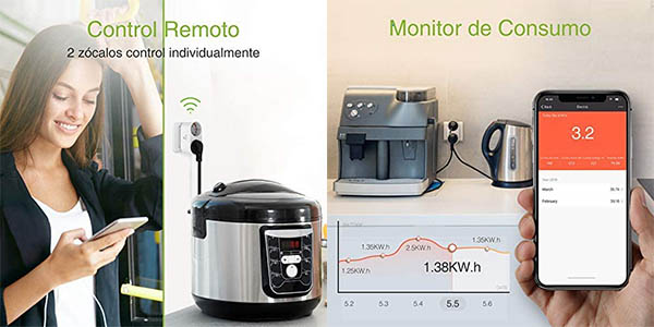 Enchufe WiFi Gosund con 2 tomas en Amazon