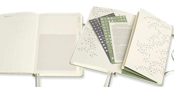 Cuaderno de bienestar Moleskine grande de tapa dura barato