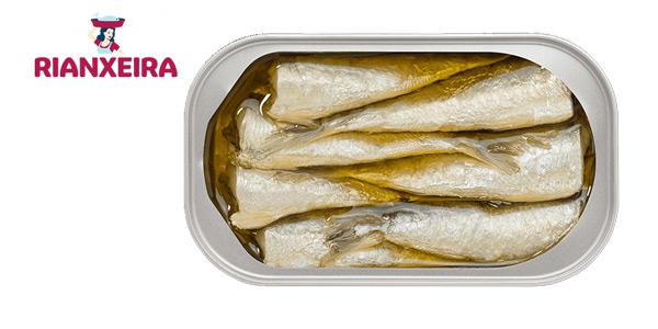 Pack x12 latas Rianxeira Conserva sardina, sardinillas en aceite de oliva bajo en sal de 81 gr/ud chollo en Amazon