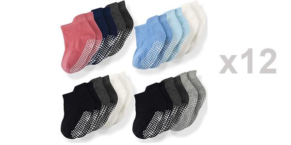 Pack x12 Pares de calcetines para bebés unisex Momcozy baratos en Amazon