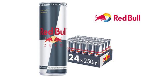 Pack x24 latas Red Bull Zero bebida energética de 250 ml/ud barato en Amazon