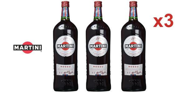 Pack x3 Martini Rosso de 1,5 L/ud barato en Amazon