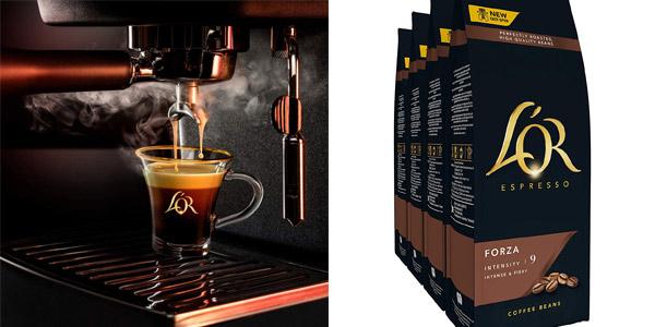 Pack x4 Paquetes de Café en Grano L'OR Forza de 500 gramos oferta en Amazon