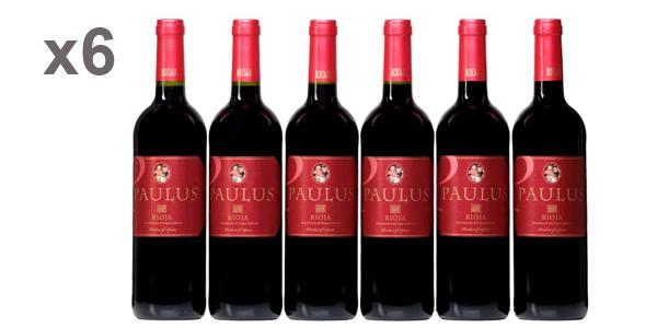 Pack x6 Paulus Rioja vino tinto de 750 ml barato en Amazon