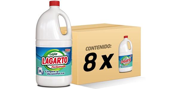 Pack x8 botellas Lagarto Lejía Perfumada de 1500 ml barata en Amazon