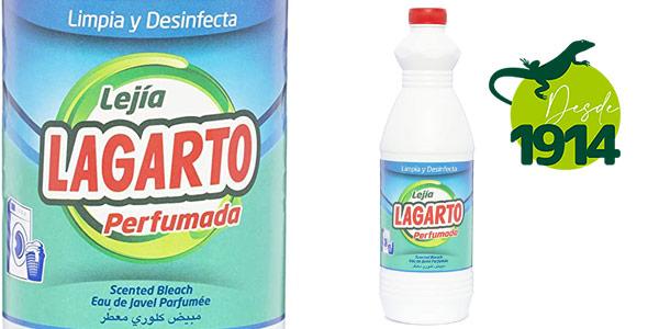 Pack x8 botellas Lagarto Lejía Perfumada de 1500 ml chollo en Amazon