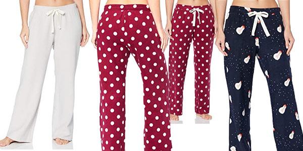 Pantalón polar pijama Iris & Lilly para mujer barato en Amazon