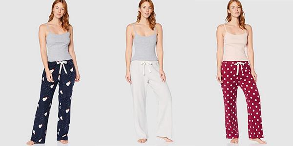 Pantalón polar pijama Iris & Lilly para mujer chollo en Amazon
