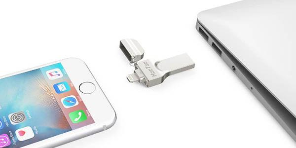 Memoria USB Lightning Hootoo para iPhone y iPad en Amazon