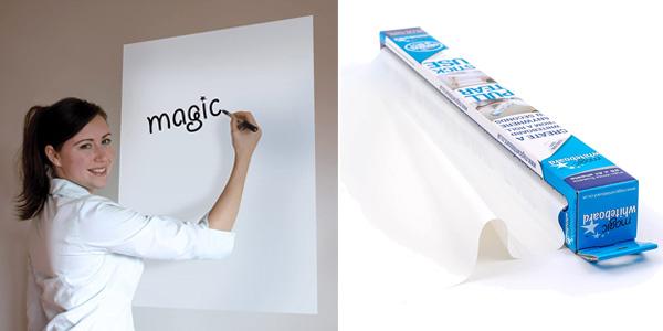 Rollo de 25 Pizarras autoadhesivas Magic Whiteboard barato en Amazon