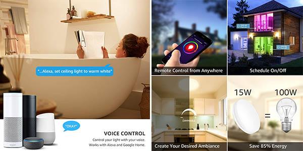 plafón LED de LE compatible con Alexa y Google Home oferta