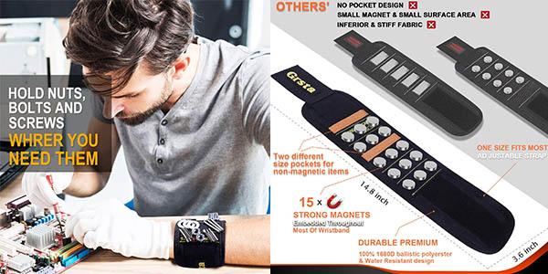 pulsera ajustable magnética Grsta trabajos de bricolaje barata