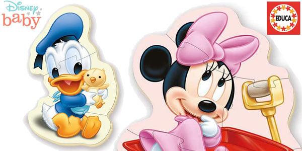 Set x5 Puzles progresivos Educa Baby Mickey Mouse chollo en Amazon