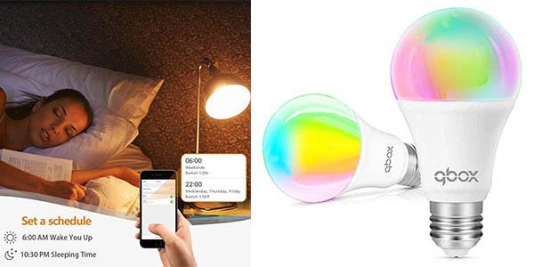 Qbox bombilla LED inteligente chollo