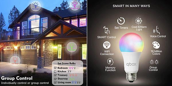 Qbox bombillas LED inteligentes programables oferta