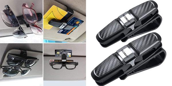 Pack x2 pinzas de coche para sujetar gafas Scobuty barato en Amazon