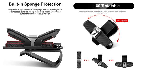 Pack x2 pinzas de coche para sujetar gafas Scobuty chollo en Amazon