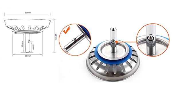 Pack x2 tapones de fregadero de acero inoxidable calidad Premium chollo en Amazon