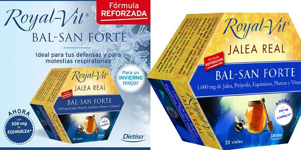 Set x20 Viales de Jalea Real Royal-Vit Bal-San Forte de Dietisa con fórmula reforzada chollo en Amazon