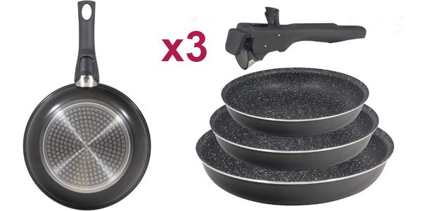 Set x3 Sartenes Bergner Black Click & Cook baratas en Amazon