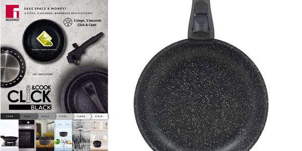 Set x3 Sartenes Bergner Black Click & Cook chollo en Amazon