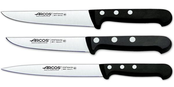Set de 5 cuchillos Arcos Serie Universal en caja de regalo con bloque de madera chollo en Amazon