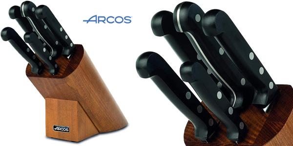 Set de 5 cuchillos Arcos Serie Universal en caja de regalo con bloque de madera barato en Amazon