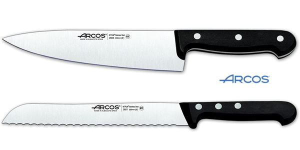 Set de 5 cuchillos Arcos Serie Universal en caja de regalo con bloque de madera chollazo en Amazon