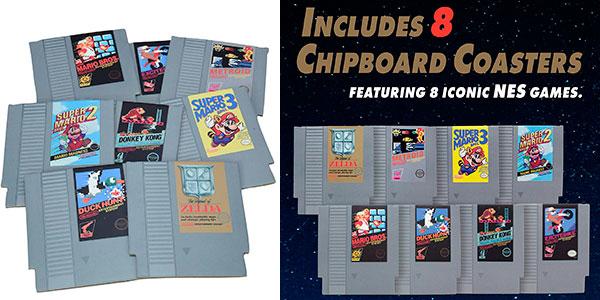 Set 8 posavasos con diseño de cartucho de NES barato