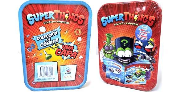 Set Edición Coleccionista Libro Superthings + 3 imanes+ capa en caja metálica barato en Amazon