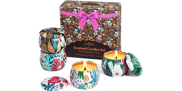 Set de regalo de 4 Velas perfumadas Anjou barato en Amazon
