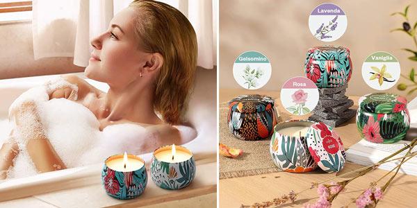 Set de regalo de 4 Velas perfumadas Anjou chollo en Amazon