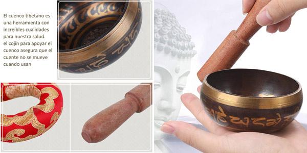 Set Rovtop Cuenco Tibetano + Cojín + Baqueta oferta en Amazon