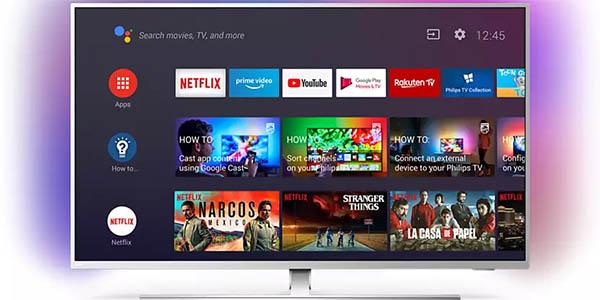 "Smart TV Philips 50PUS8555 UHD 4K de 50"" barato"