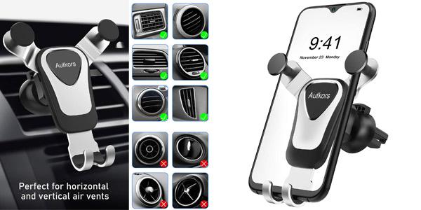 Soporte del móvil Autkors para el coche barato en Amazon