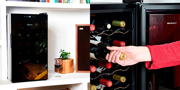 Vinoteca Taurus PTWC-18 de 18 botellas con panel táctil barata